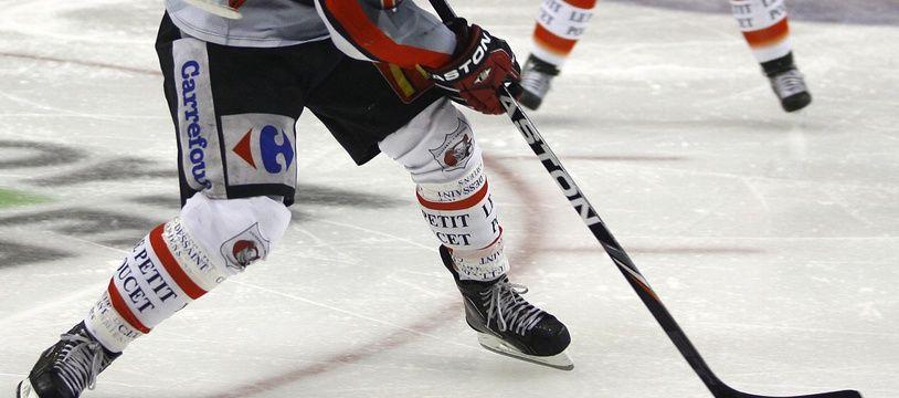 Illustration d'un match de hockey sur glace.