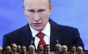 Vladimir Poutine, lors du congrès du parti Russie Unie, le 26 mai 2012 à Moscou.