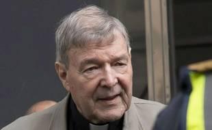 Le cardinal Pell lors de son procès en première instance. (archives)