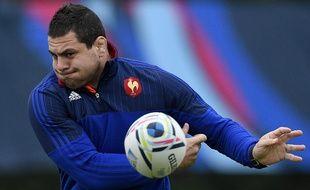 Guilhem Guirado pendant le Mondial de rugby en Angleterre en octobre 2015
