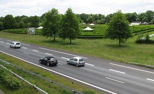 La route Nantes-Pornic, ici sur sa partie 2x2 voies à Bouguenais.