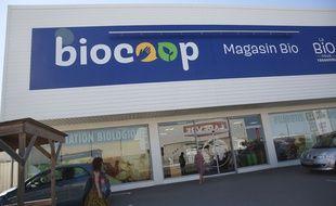 Un magasin Biocoop, illustration