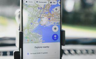 L'application GPS Google Maps (illustration).