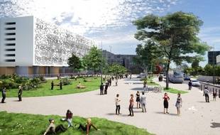 Le projet de réaménagement de la place Bataillon, devant la faculté de sciences