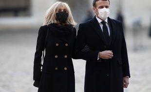Emmanuel Macron et Brigitte Macron, le 26 novembre dernier