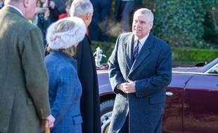 Le prince Andrew à Sandringham, le 19 janvier 2020.