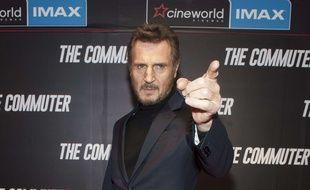 L'acteur Liam Neeson à la première du film «The Commuter», à Londres, le 11 Janvier 2018.