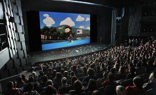 La salle de Bonlieu au moment du générique avant la projection d'un film (archives 2019)