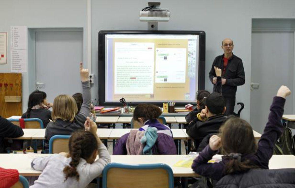 L'école primaire Littré à Lille expérimente le tableau numérique interactif. – M.LIBERT/20 MINUTES