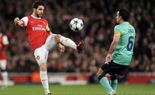 Le milieu de terrain d'Arsenal Cesc Fabregas contre Barcelone, le 16 février 2011, à Londres.