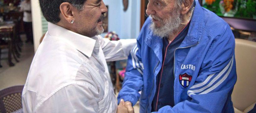 Maradona et Fidel Castro
