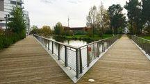 Le quartier Ginko à Bordeaux est aménagé autour d'espaces verts et de canaux
