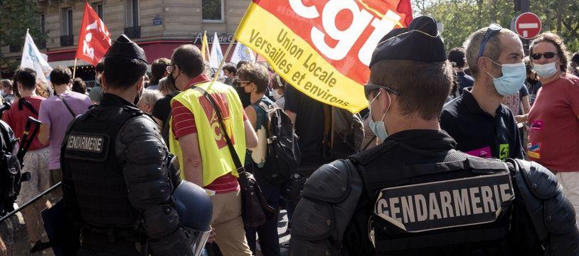 Une manifestation de la CGT, illustration