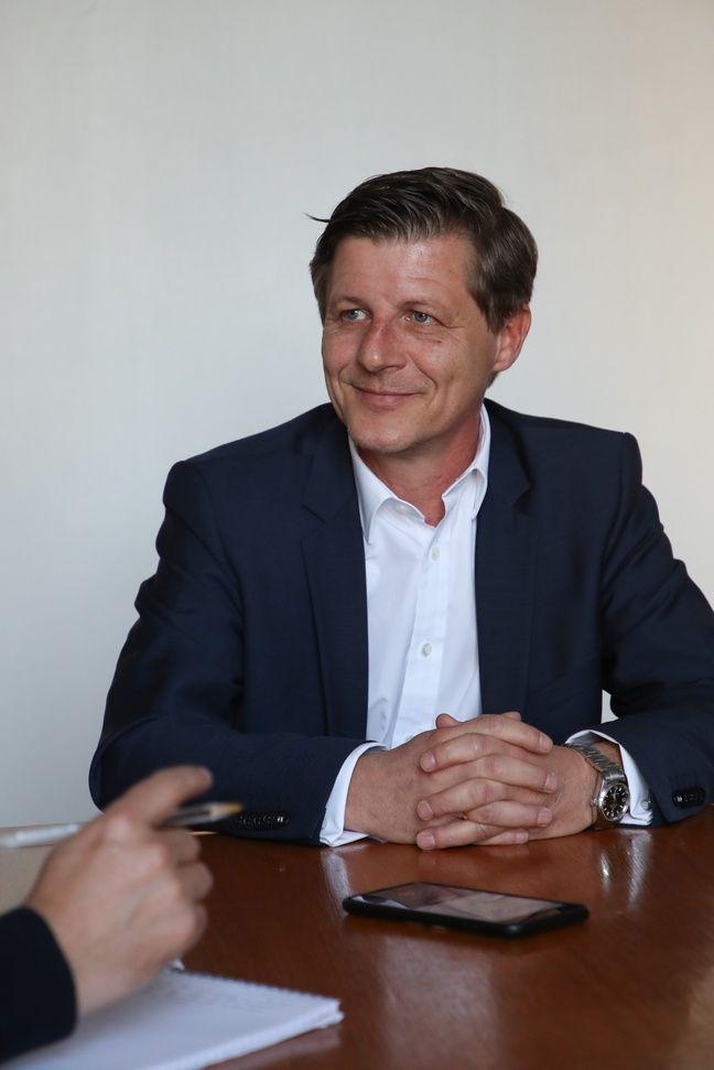 Nicolas Florian à l'hôtel de ville de Bordeaux, le 5 mars 2019. TS-mairie de Bordeaux