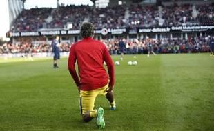 Pour sa première sous le maillot du PSA, Neymar avait foulé la pelouse du Roudourou début août.