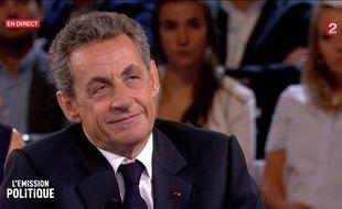 Nicolas Sarkozy sur le plateau de «L'Emission politique», le 15 septembre.