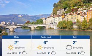 Météo Grenoble: Prévisions du mercredi 13 novembre 2019