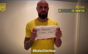 Nicolas Pallois, dans une vidéo de prévention réalisée par le FC Nantes.
