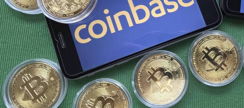 La plateforme d'échanges de cryptomonnaies Coinbase (illustration).