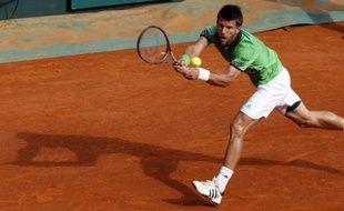 Le tennisman autrichien Jurgen Melzer, lors de sa victoire à Monte-Carlo, le 14 avril 2011 en quart de finale contre Roger Federer.