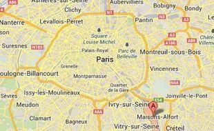Google Maps d'Alfortville (Val-de-Marne), où s'est déroulée l'interpellation d'un sans papiers dans un centre de soins