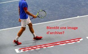 Jo-Wilfried Tsonga, à l'entraînement avant France-Belgique.