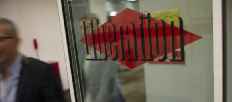 """Le logo du journal """"Libération"""", le 3 septembre 2015, à Paris"""