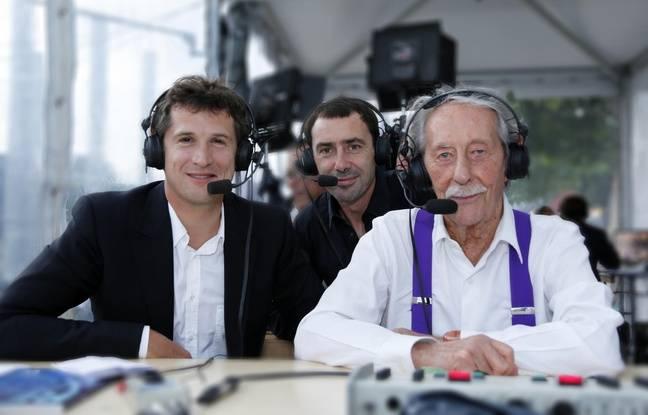 Guillaume Canet, Christian Choupin et Jean Rochefort ont commenté le Paris Eiffel Jumping en 2014.