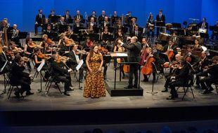 Concert au château Louis XI lors du festival Berlioz, le 25 août 2017.