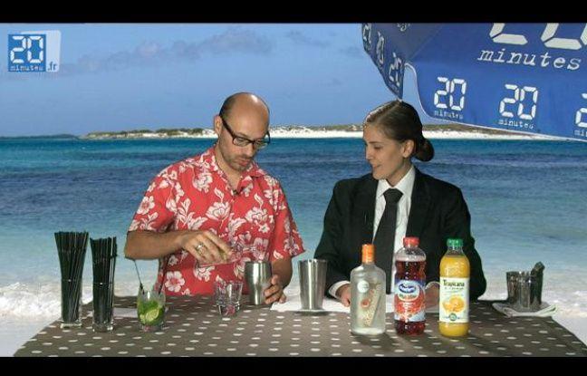 Capture d'écran d'un tutoriel vidéo pour apprendre à réaliser ses cocktails.
