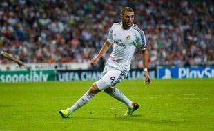L'attaquant du Real Madrid Karim Benzema lors du match contre Copenhague le 2 octobre 2013.