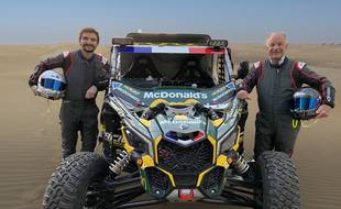 Patrick Becquart et son fils Romain participent au Dakar 2021.