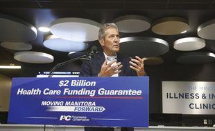 Brian Pallister, Premier ministre de la province canadienne du Manitoba. (illustration)
