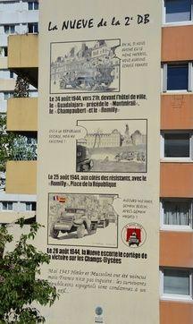 Une fresque de 17 mètres de haut, rue Esquirol dans le 13e arrondissement, rend hommage aux soldats espagnols de la Nueve, acteurs majeurs de la Libération de Paris en août 1944.