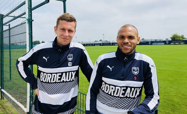 Lukas Lerager et Martin Braithwaite, les deux internationaux danois des Girondins de Bordeaux.