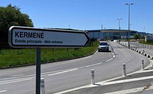 L'abattoir de Kermené, dans les Côtes d'Armor, où des dizaines de cas positifs de coronavirus ont été enregistrés. Un grand dépistage est organisé.
