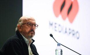 Jaume Roures s'est exprimé par vidéoconférence devant les employés de Mediapro France.