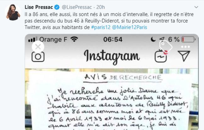 Paris: Jean-Pierre, 86 ans, lance un avis de recherche pour retrouver la «jolie dame» qu'il a rencontrée dans le bus