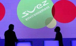 Le logo de Suez Environnement.
