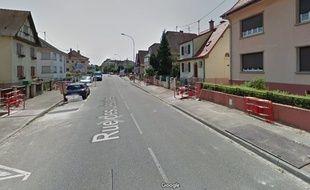 Rue des Jésuites à Strasbourg. Capture d'écran Google View.