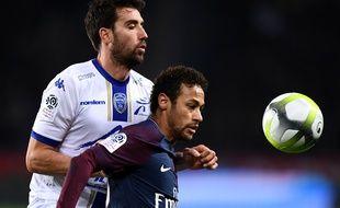 Le match PSG-Troyes au Parc des Princes à Paris le 29 novembre 2017.