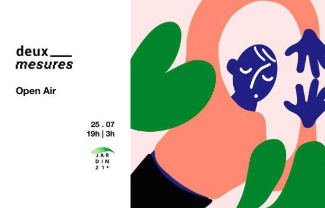 Visuel officiel de la soirée orchestrée par le collectif Deux Mesures au Jardin21