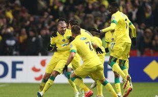 Vincent Bessat vient de marquer son troisième but, celui de la qualification du FC Nantes.