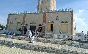 La mosquée Rawda, cible d'un attentat qui a fait 235 morts et 109 blessés, le 24 novembre 2017.