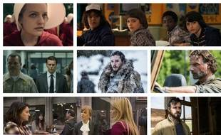 Images extraites des séries «The Handmaid's Tale», «Stanger Things», «Mindhunter», «Game of Thrones», «The Walking Dead», «Big Little Lies» et «The Leftovers».