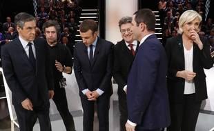 Sur le plateau du débat pour la présidentielle diffusé le 21 mars 2017.