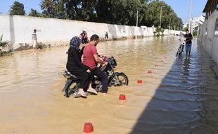 Les intempéries ont provoqué des inondations en Tunisie.