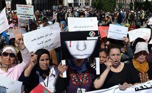 Des femmes manifestant pour leurs droits, le 8 mars 2015 à Rabat (Maroc).