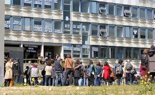 Assemblée générale étudiante à l'université Rennes 2, le 18 avril 2016.