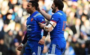 Teddy Thomas et Rémi Lamerat, deux des huit joueurs sanctionnés après la soirée du 11 au 12 février à Edimbourg, en Ecosse.